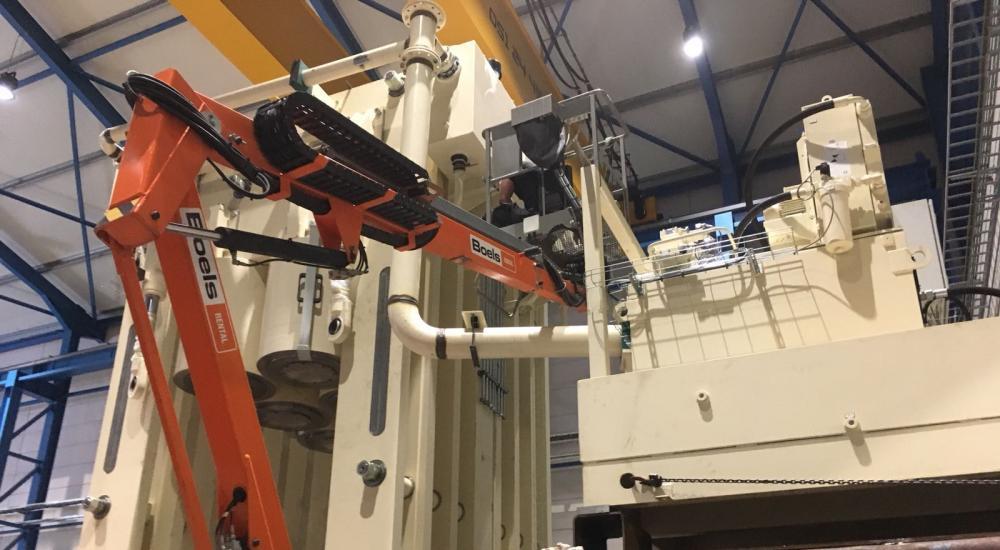 Montage Vameco pour la presse hydraulique 9000 Tonnes