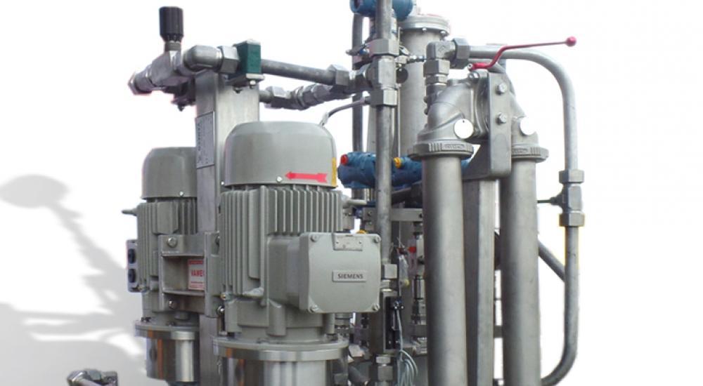 Groupe hydraulique frigorifique et de lubrification en acier inoxydable