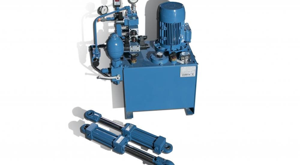 Vameco custom engineering - Hydraulic unit with the appropriate cylinders
