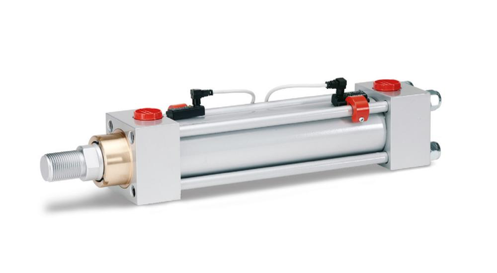 ISO-Cylinder 6020/2 with adjustable magnetic switch