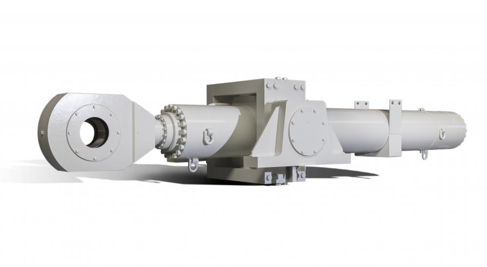 Travail sur mesure Vameco - Vérins à course de 4600mm (poids 17 tonnes)