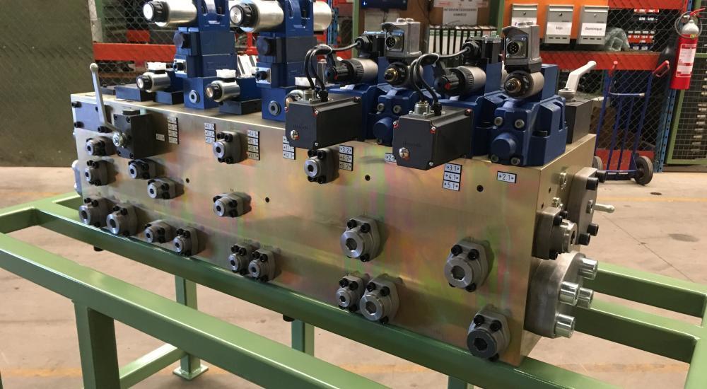 Manifoldblok voorzien van NiCr-coating - Ontwerp en fabricatie door Vameco Diksmuide