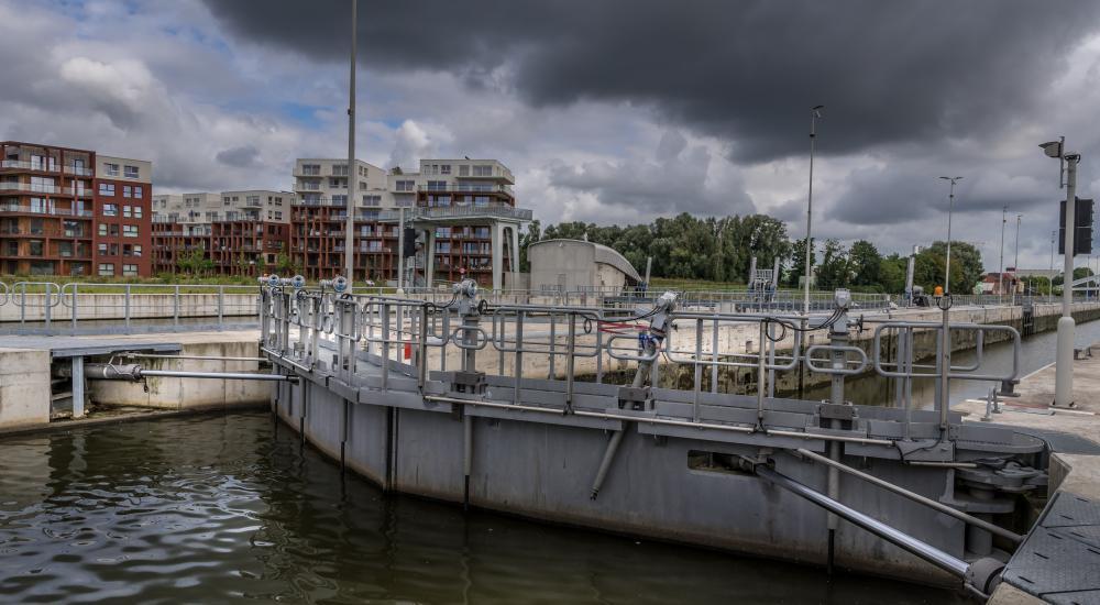 Hydraulische cilinders sluis Harelbeke Vameco Diksmuide