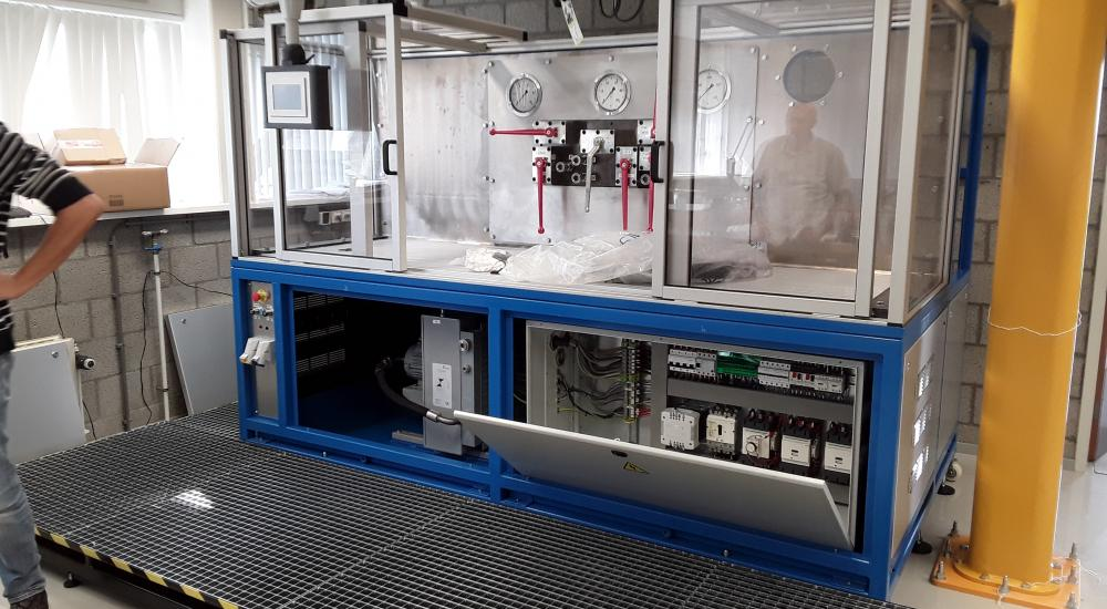 Hydraulische testbank - Engineering, productie en montage